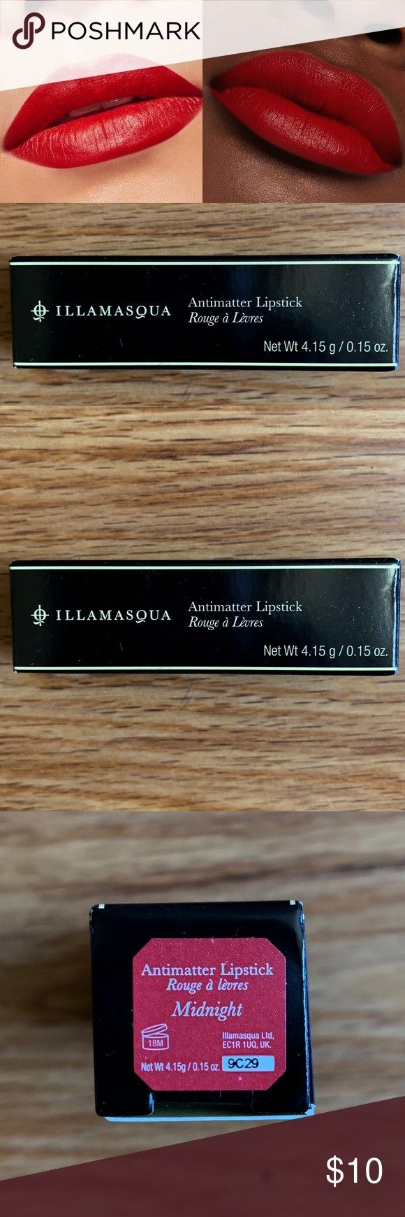 Illamasqua Antimatter Lipstick in Midnight Illamasquas Antimatter lipsticks are well known for the