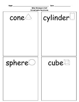 Worksheet 3d Shapes Worksheets For Kindergarten 1000 images about shapes on pinterest the shape geometric and 3d shapes