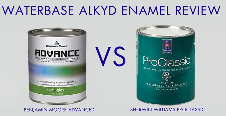 Waterbased Oil Enamel Review Advance By Benjamin Moore Paint Vs Proclassic By Sherwin Wil Benjamin Moore Paint Benjamin Moore Advance Paint Staining Cabinets