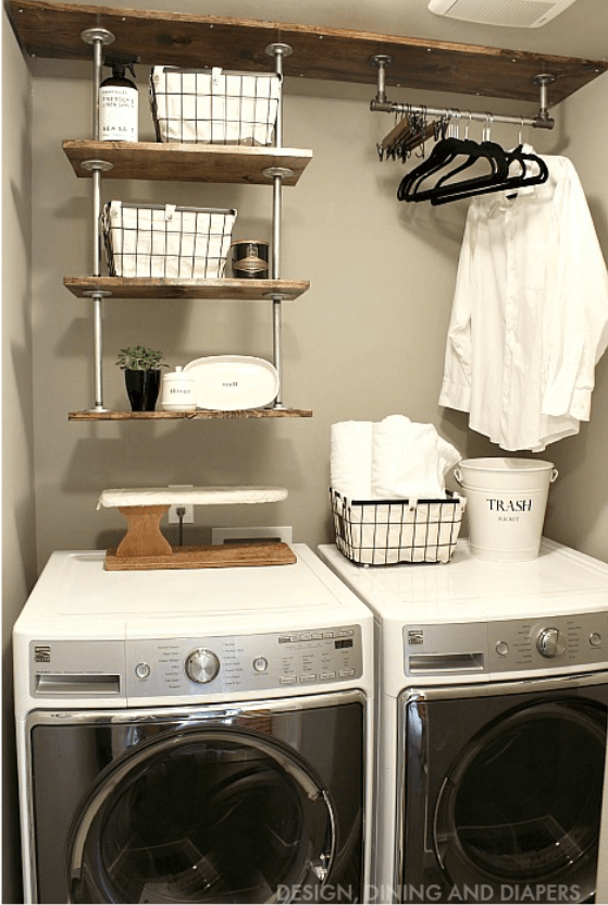 Quick and easy diy country chic laundry room decor ideas solutioingenieria Image collections