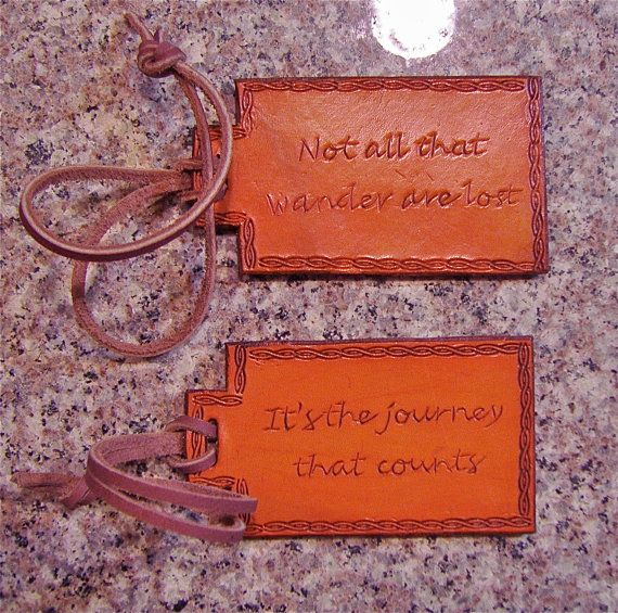 Leather Luggage Tags by BomberoLeatherworks on Etsy, $28.50