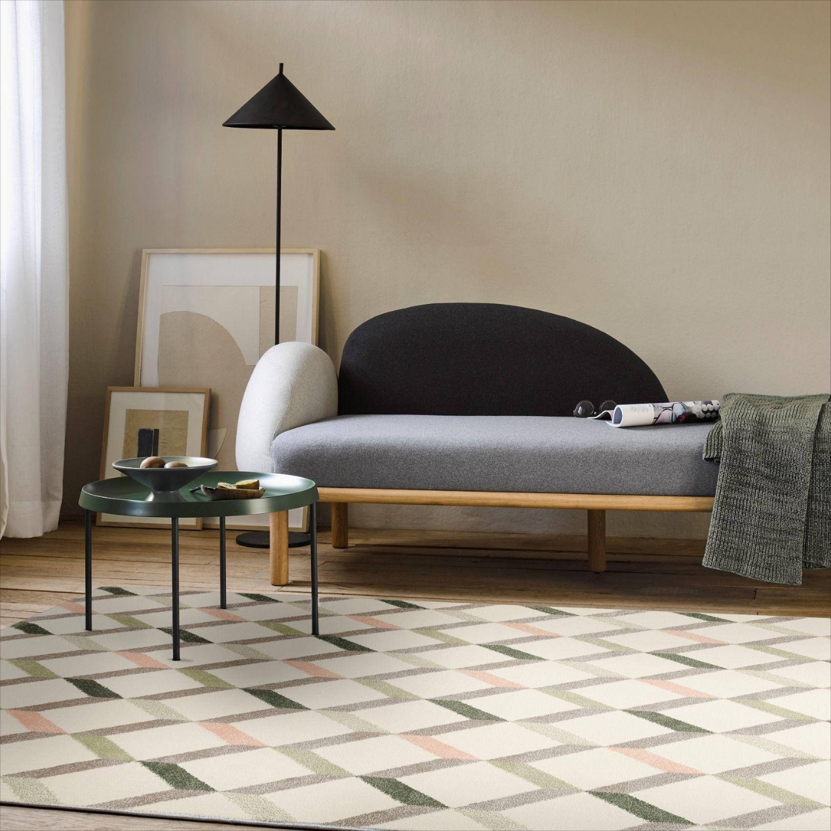 Esprit Teppich Creme Beige Salbeigrun Rosa Kurzflor Rica In 2020 Design Kurzflor Teppiche Und Moderne Teppiche