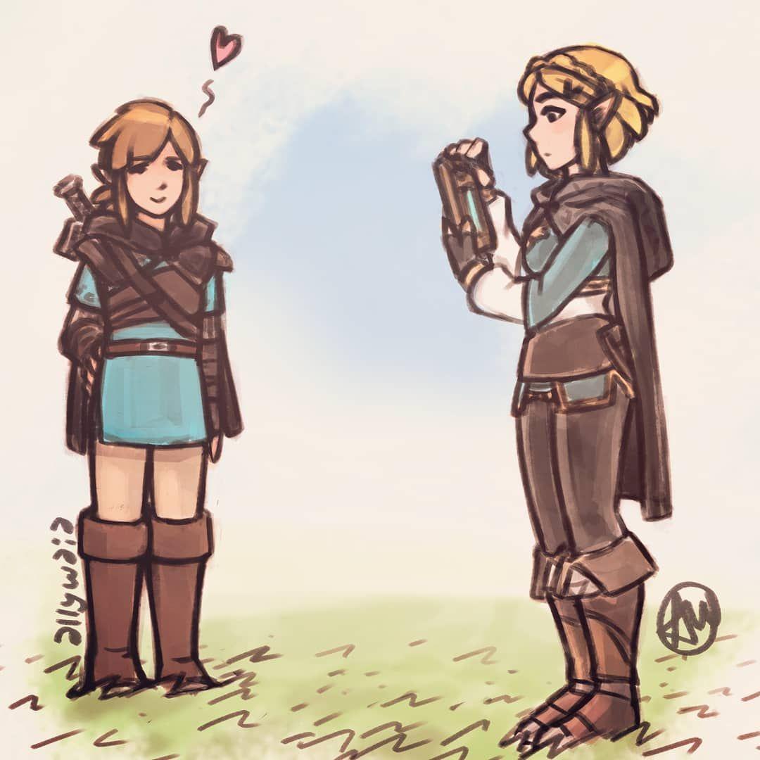 Legend Of Zelda Breath Of The Wild Sequel Art Link And Princess Zelda Botw 2 Allywaia Art Legend Of Zelda Legend Of Zelda Breath Breath Of The Wild