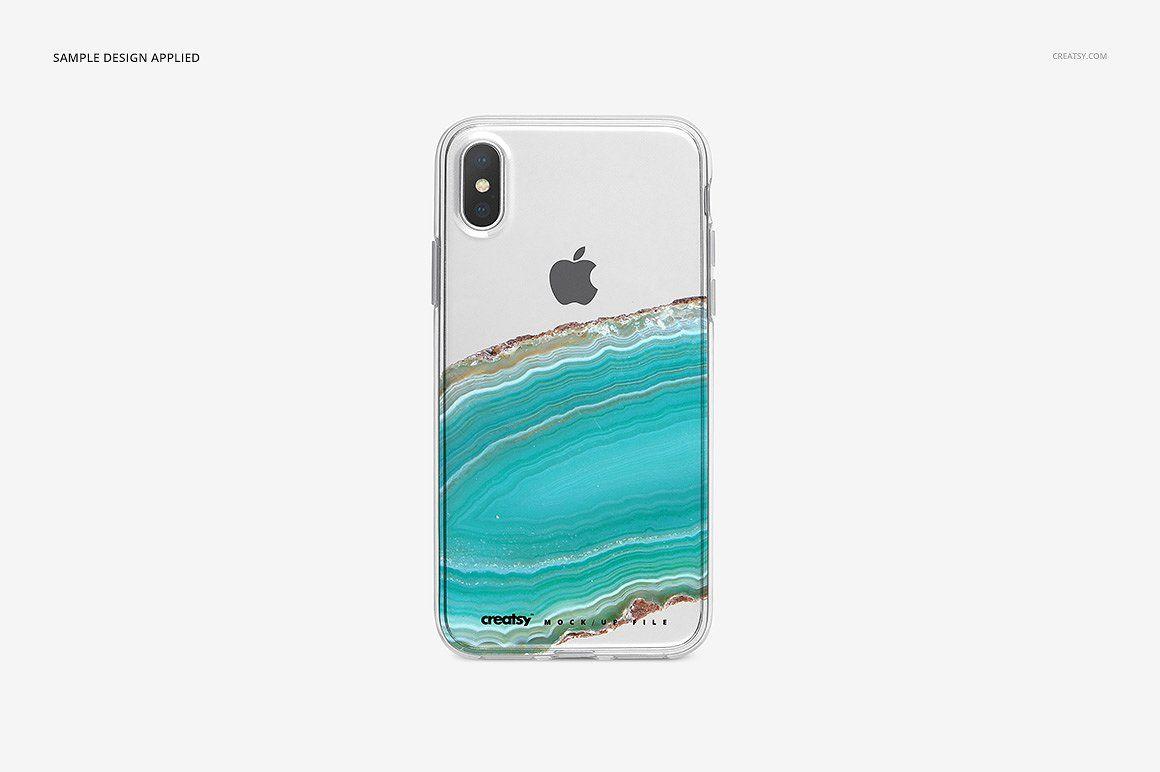 Download Iphone X Clear Case Mockup Bundle Clear Cases Clear Iphone Case Iphone