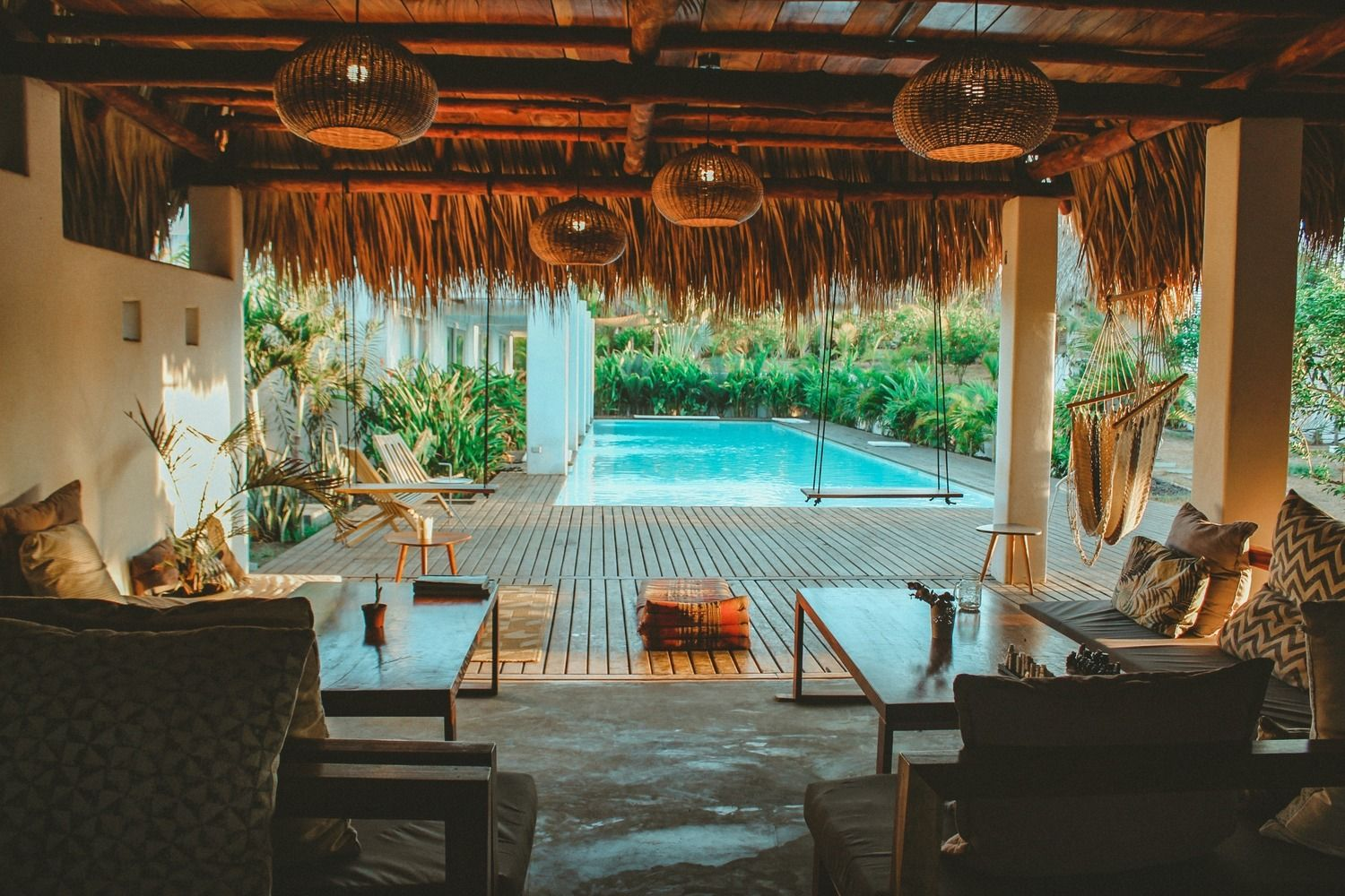 Swell Surf Lifestyle Hotel Swell Guatemala Outdoor Lounge Area Surf Lifestyle Resort