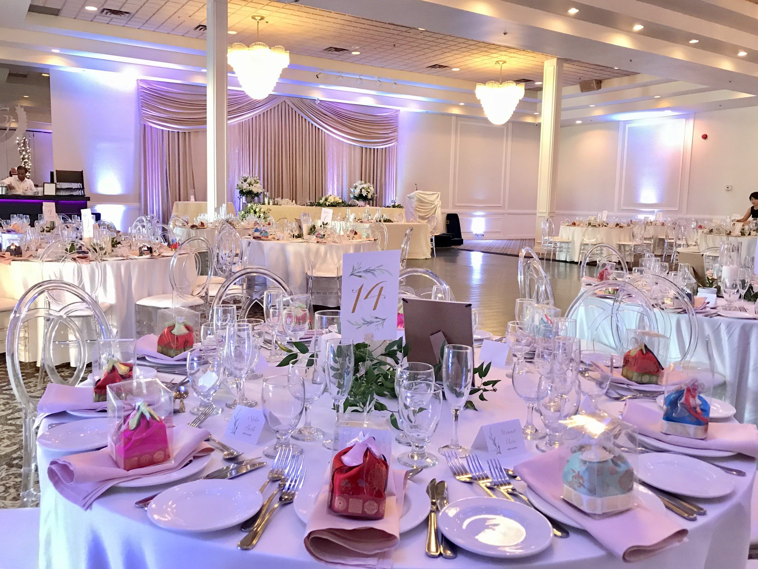 Banquet Hall Decorated For A Wedding Reception Gallery View Wedding Reception Hall Hall Decor Wedding Banquet Hall