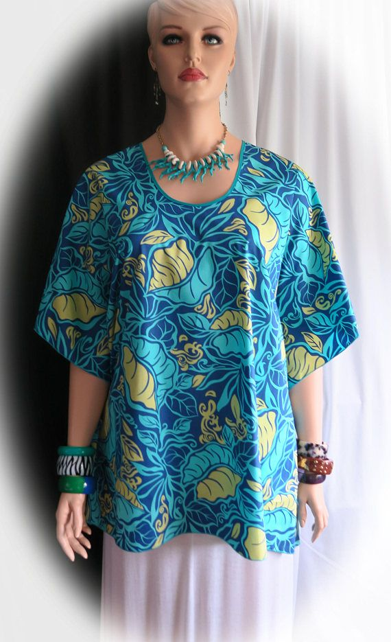 519398c13 Teal Blue Forest Hawaiian Women s Butterfly Polynesian Blouse Shirt ...