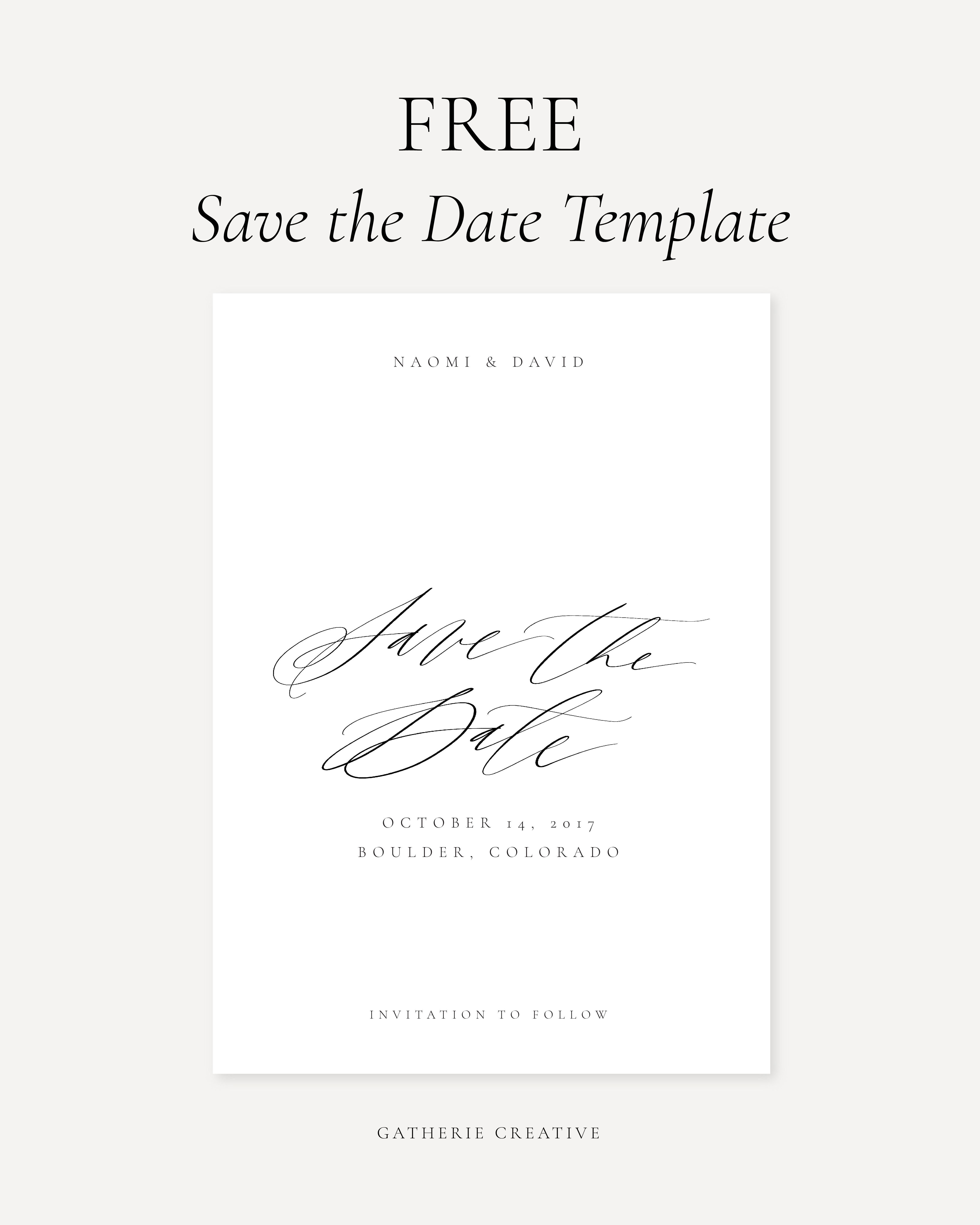 FREE Editable Save The Date Template