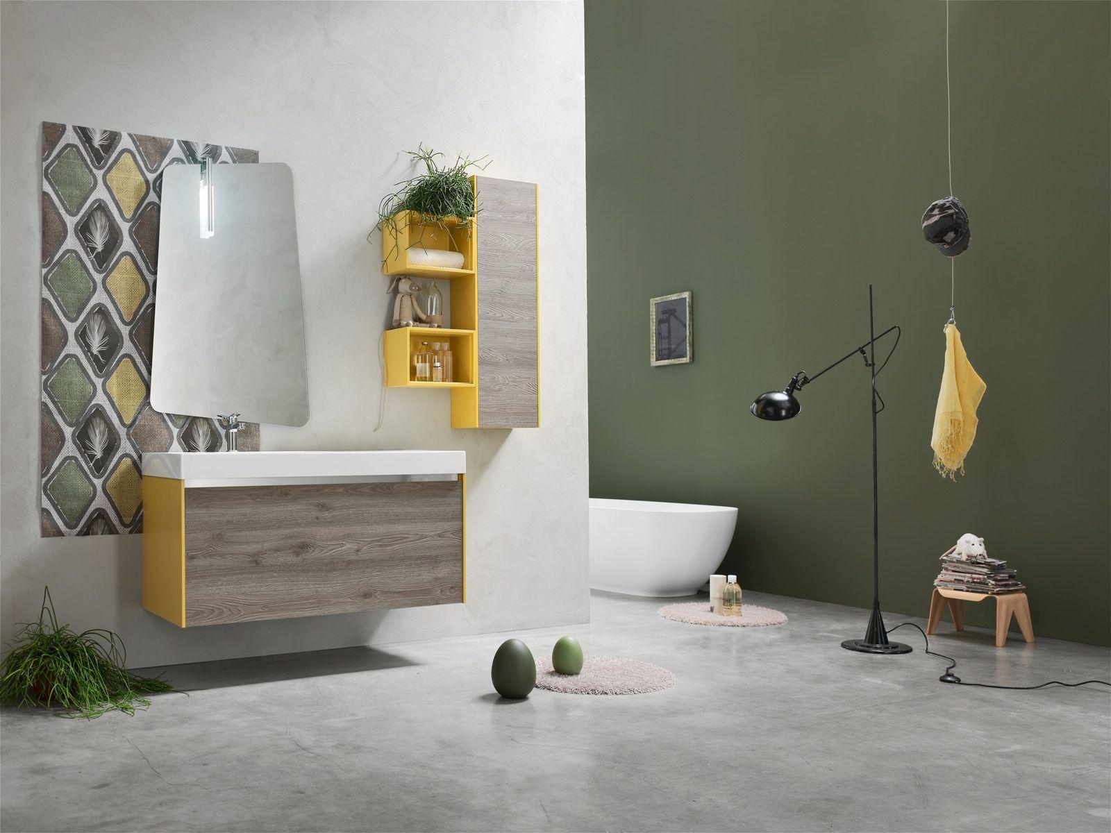 Arcom arreda il bagno con i colori della nuova linea AK laccato