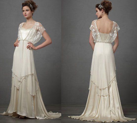 Vintage Inspired Wedding Dresses In The 1920s Women Often Went Back To Earlier Eras Like Edwardians For Inspiration
