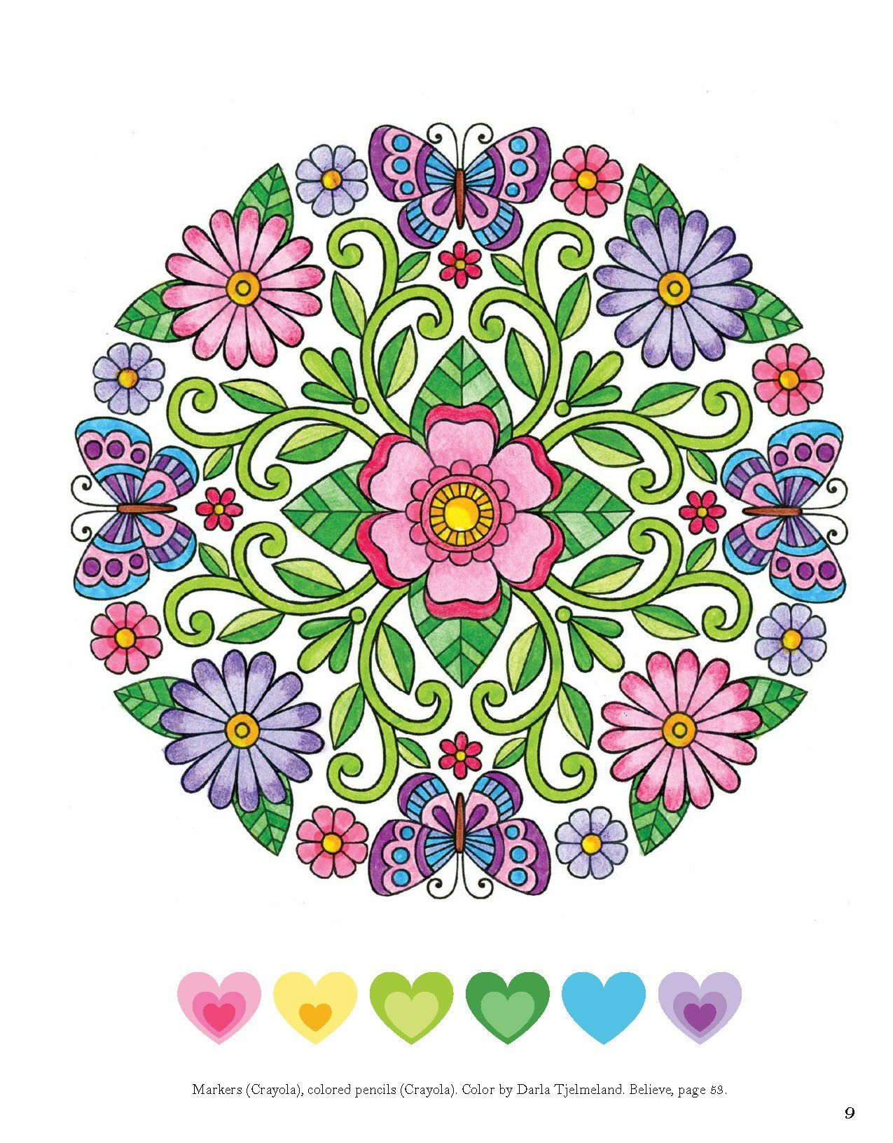 Colorful Creations Butterfly Mandalas Coloring Book Pages Designed To Inspire Creativity Jess Volinsk Coloring Book Art Mandala Design Art Butterfly Mandala