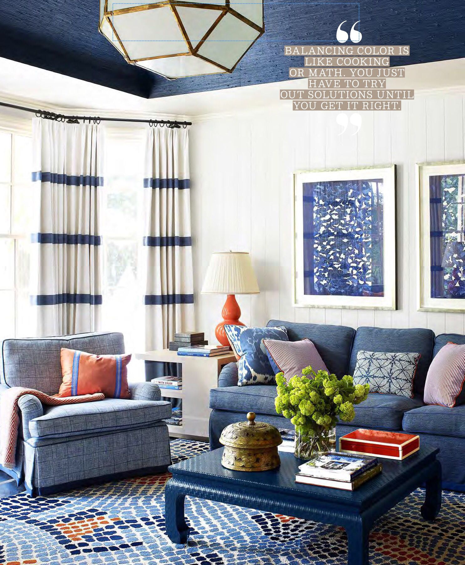 Loving Room Playroom Colorful Family Room Love The Drapes The Rug And The Pops Of Orange Blue And White Living Room Stylish Room Blue Living Room #white #living #room #with #pops #of #color