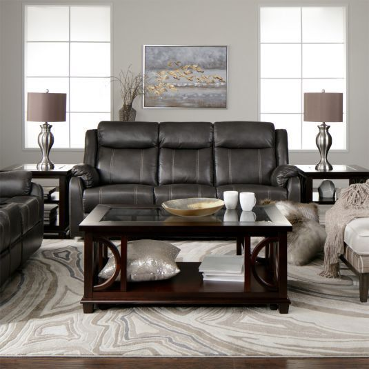 Strange Domino Grey Reclining Sofa Reclining Console Loveseat My Dailytribune Chair Design For Home Dailytribuneorg