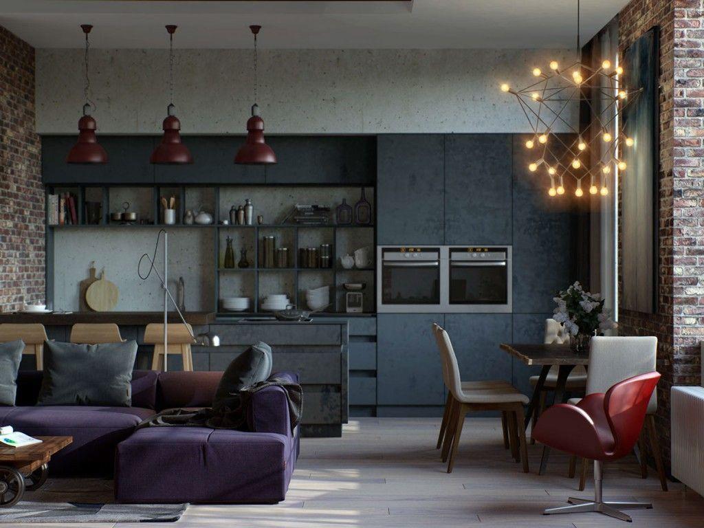 Apartments visualizer alex koretsky open floorplan red for Room decor visualizer