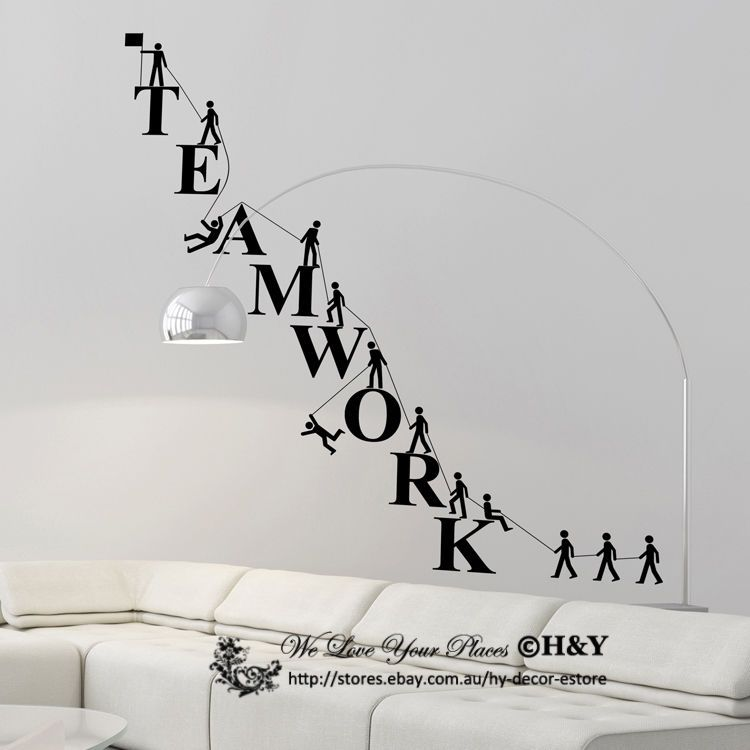 details about team work spirit office company wall on wall stickers design id=43093