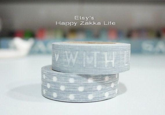 Japanese Washi Masking Tape Set  With Love Series  2 by zakkalover, $5.50