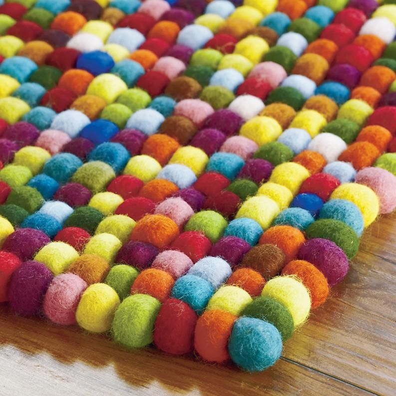 Beautiful Kids Area Rug Maked With Colored Tangle