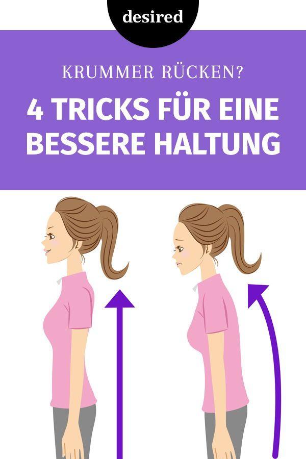 Haltung Verbessern 4 Simple Tricks Gegen Einen Krummen Rucken Desired De Fitness Blogs Rucken Trainieren Korperhaltung