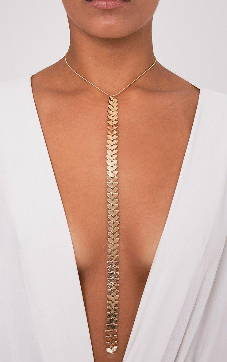 Biba Gold Choker Body Chain The Fashion Bible Aj1YFMzg