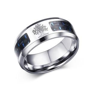 (Tree of Life Rin) 8mm Carbon Fiber Ring For Man Engraved Stainless Steel Male Alliance Casual Customize Jewelry Personalize Band