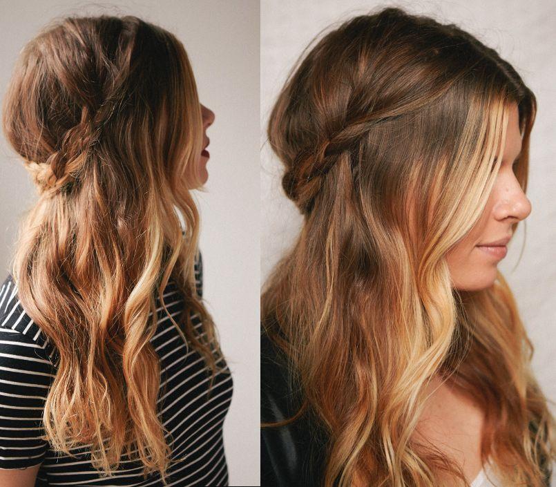 Semirecogido Con Trenza Hair Styles Beautiful Curly Hair Hair