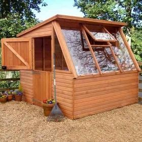 Malvern Solar Greenhouse Potting Shed 10 X 8 3 05 A Very High Quality Solar  Wooden Greenhouse Potting Shed Avai .
