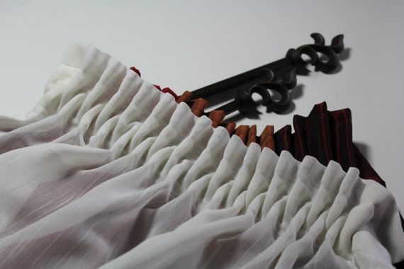 Smock Pleat Tape to Create Your own Curtain by HomeTextileStudio