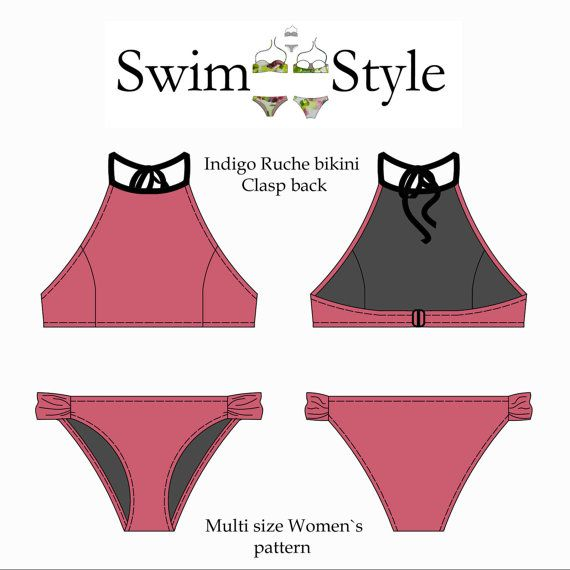 Indigo Ruche Women s Bikini pdf sewing pattern | playa | Pinterest