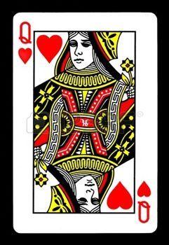 carte dame de coeur reine de coeur: Le Queen of Hearts Carte de jeu.   Carte à jouer