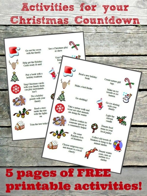 100 Christmas Countdown Ideas Christmas Countdown Countdown Activities Christmas Activities