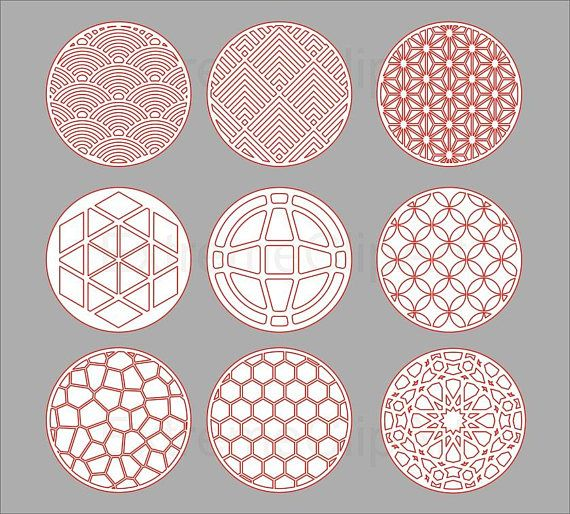 Coasters stencil cutout template dxf svg decorative for Coaster size template