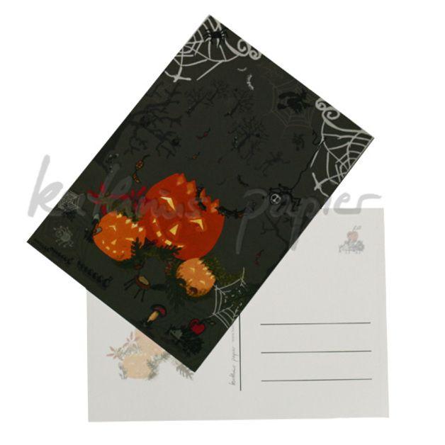 coole Halloween Postkarte von Kathrins Papier. Achtung limitierte Auflage