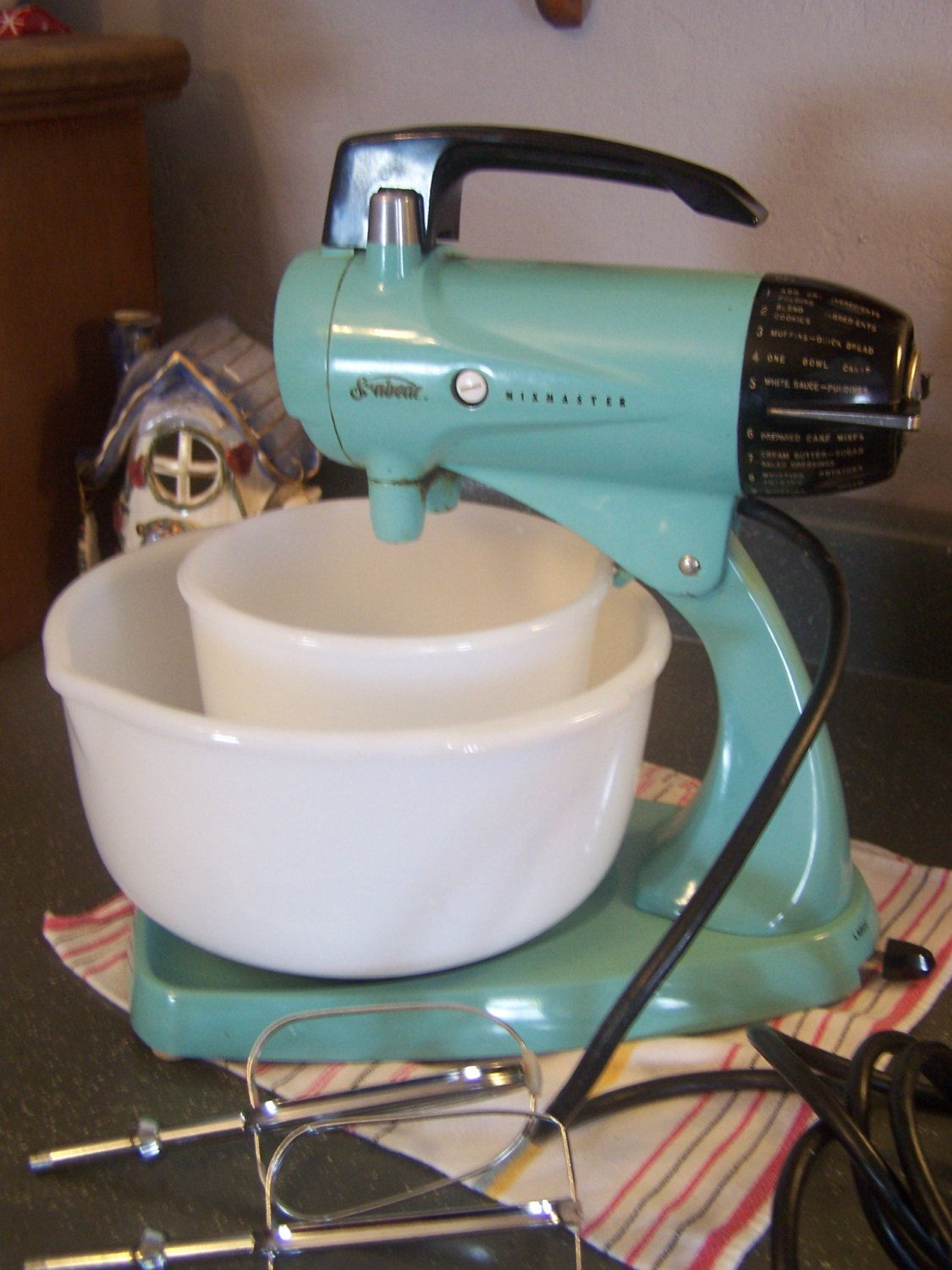 Mid Century Turquoise Sunbeam Mixmaster, Stand MIXER, Works Great ...