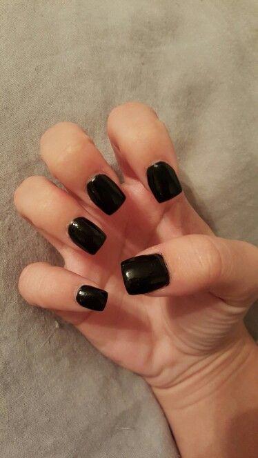 All Black Short Acrylic Nails Short Acrylic Nails Short Square Nails Short Square Acrylic Nails