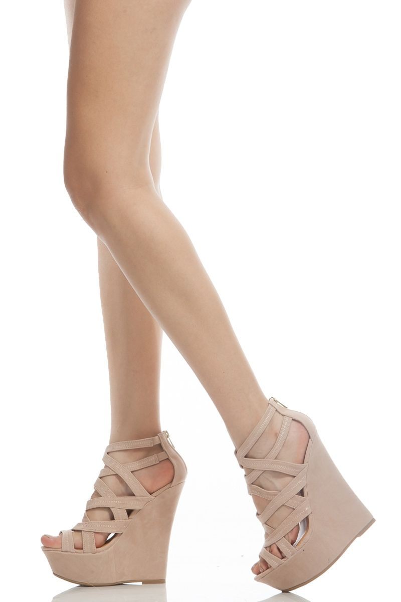 055c4e0fc0 Nude Faux Suede Strappy Open Toe Platform Wedges @ Cicihot Wedges Shoes  Store:Wedge Shoes,Wedge Boots,Wedge Heels,Wedge Sandals,Dress Shoes,Summer  Shoes ...