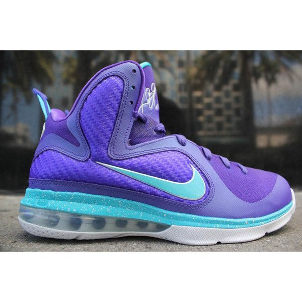pretty nice f63a5 8554a Nike LeBron 9 Summit Lake Hornets ❤ liked on Polyvore
