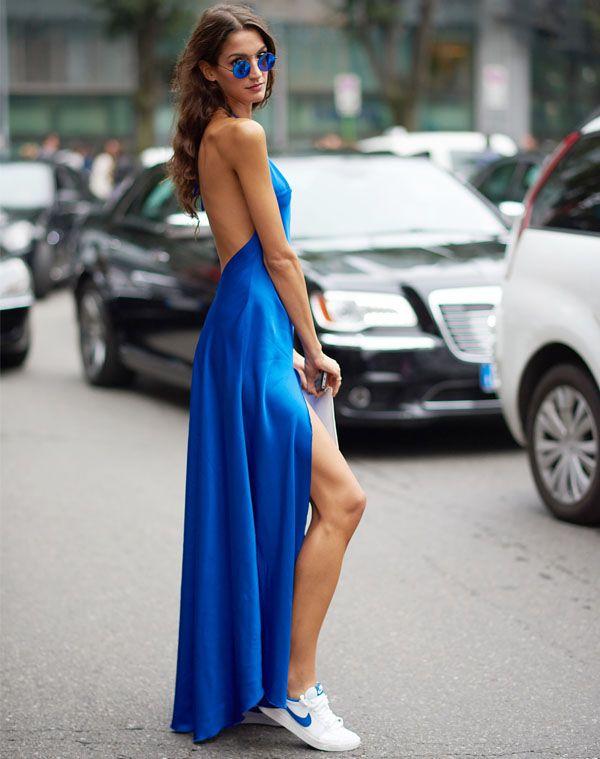 530e04545 sara nicole rossetto street style vestido azul fenda