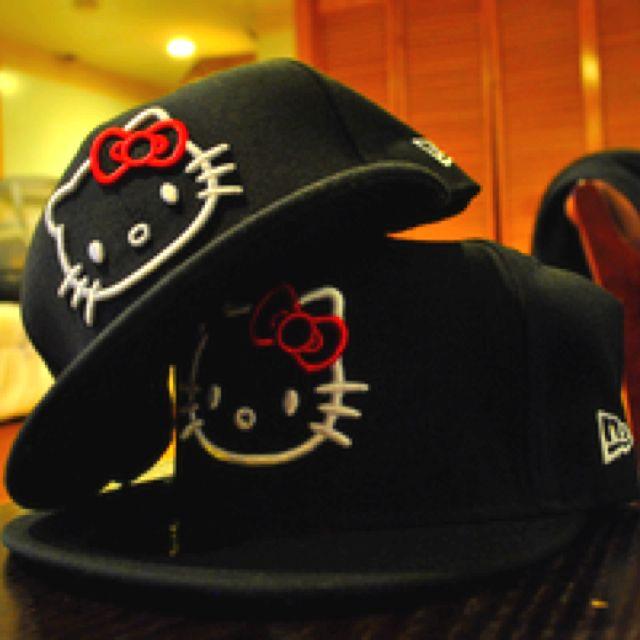 Hello Kitty Snapbacks <3 Oh my god. i love that!