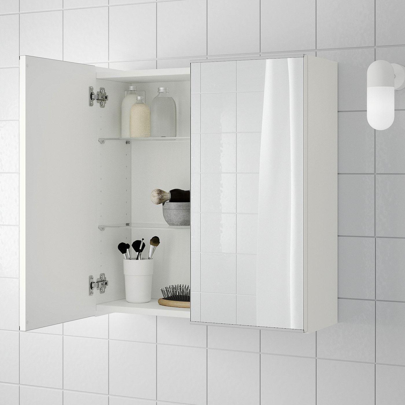 Ikea Lillangen Mirror Cabinet With 2 Doors White In 2020