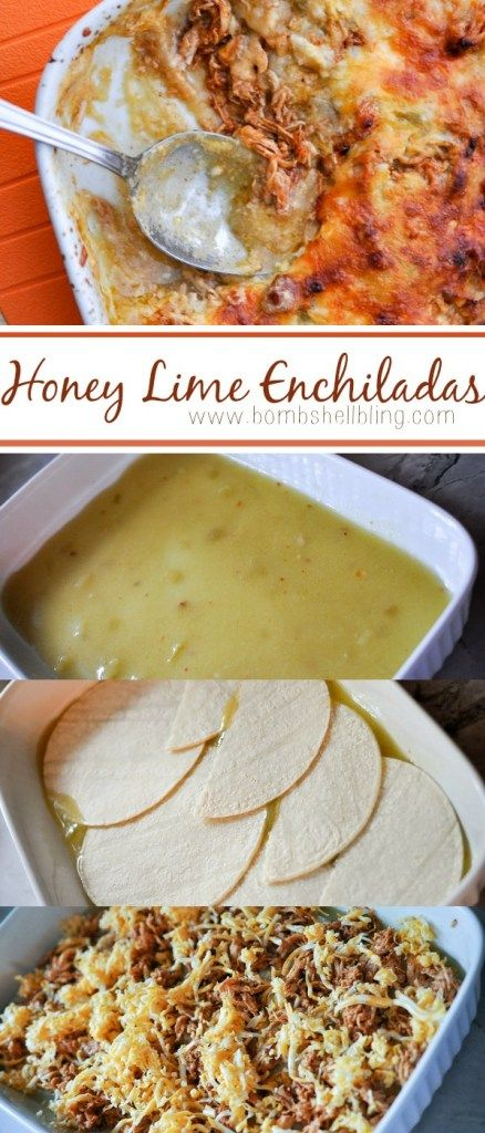 Honey Lime Enchilada Recipe - SO easy and SOO delicious!! A recipe that will please the whole family! #honeylimechicken