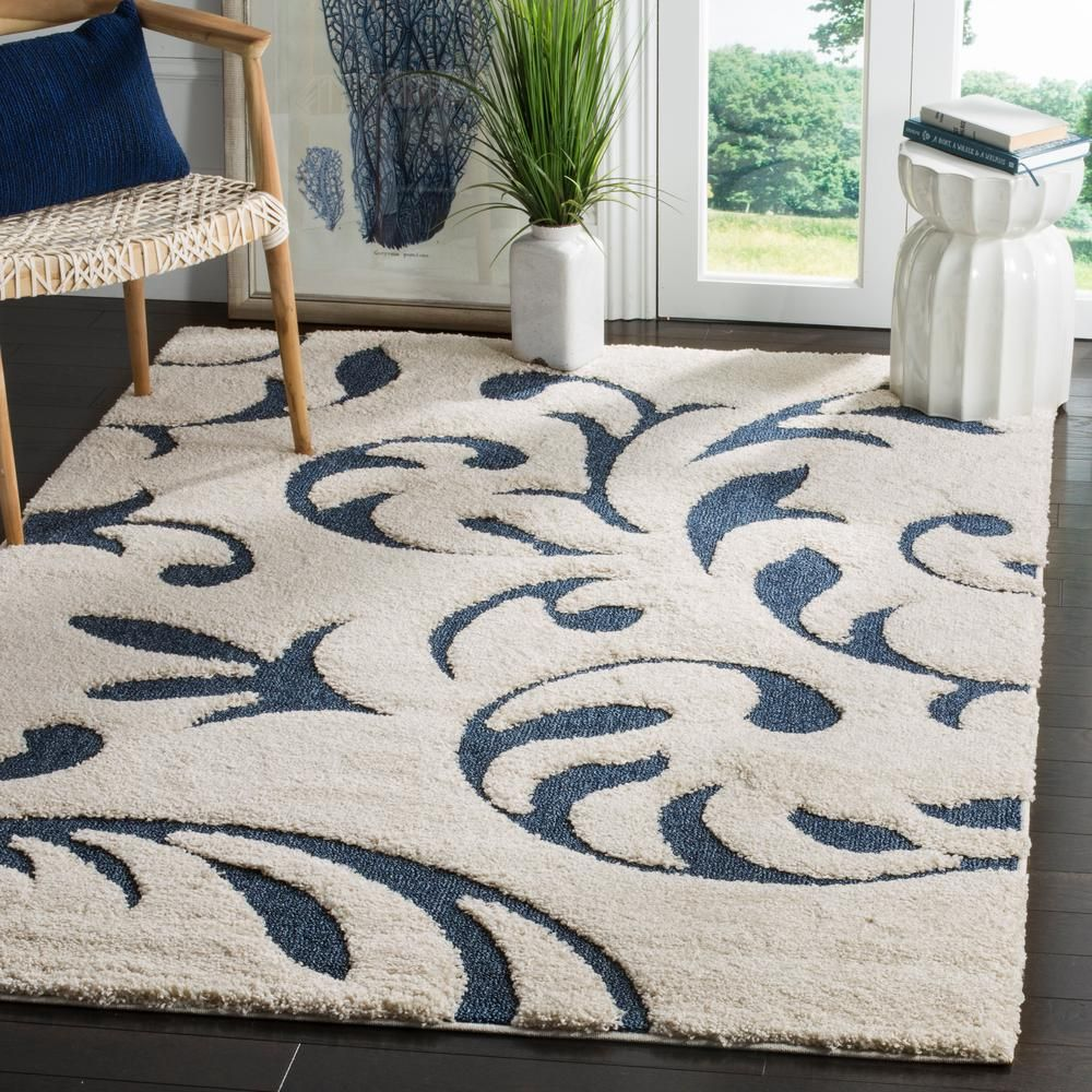 Safavieh Florida Cream Blue 8 Ft 6 In X 12 Area Rug Sg468 1165 9 The Home Depot