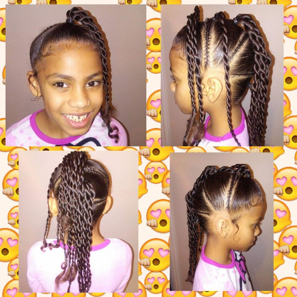 Cute Braided Hairstyle For Little Girl Mixed Kids Hair Style Beautiful Easy Updo Adorbs Cute Braided Hairstyles Kids Hairstyles Mixed Kids Hairstyles