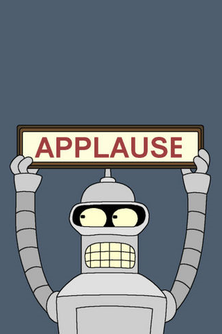 Futurama Bender Applause Iphone Wallpaper Hd You Can Download This Free Iphone Wallpaper For Hd Wallpaper Android Cool Iphone 5 Wallpapers Android Wallpaper