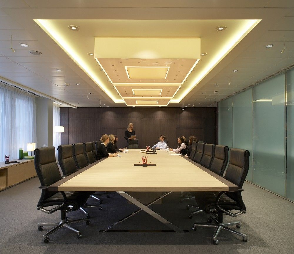 Boardroom conference room pinterest meeting rooms for Office design video conferencing