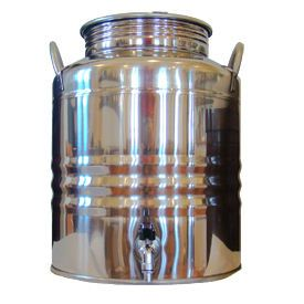 Superfustinox Stainless Steel Fusti With Spigot 20 Liter Water Dispenser Antique Milk Can Making Water