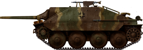 """Jagdpanzer-38 of the 11th SS Panzerdivision """"Nordland"""" winter 1944-45."""