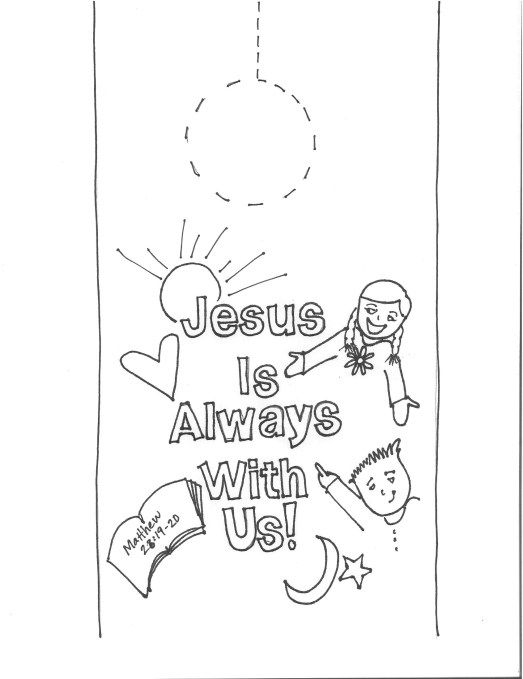 Jesus Is Always With Us Sunday School Coloring Pages Preschool