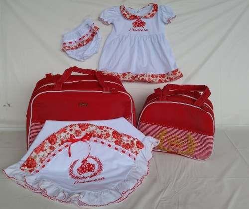 Kit Completo Bolsa De Bebe Saída Maternidade Pronta Entrega - R  134 ... 6a80fc71f0d