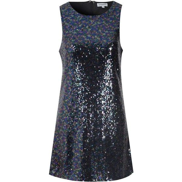 **Alice & You Purple Sequin Shift Dress ($27) ❤ liked on Polyvore featuring dresses, purple, sequin embellished dress, purple sleeveless dress, blue sequin cocktail dress, purple dress and sleeveless dress