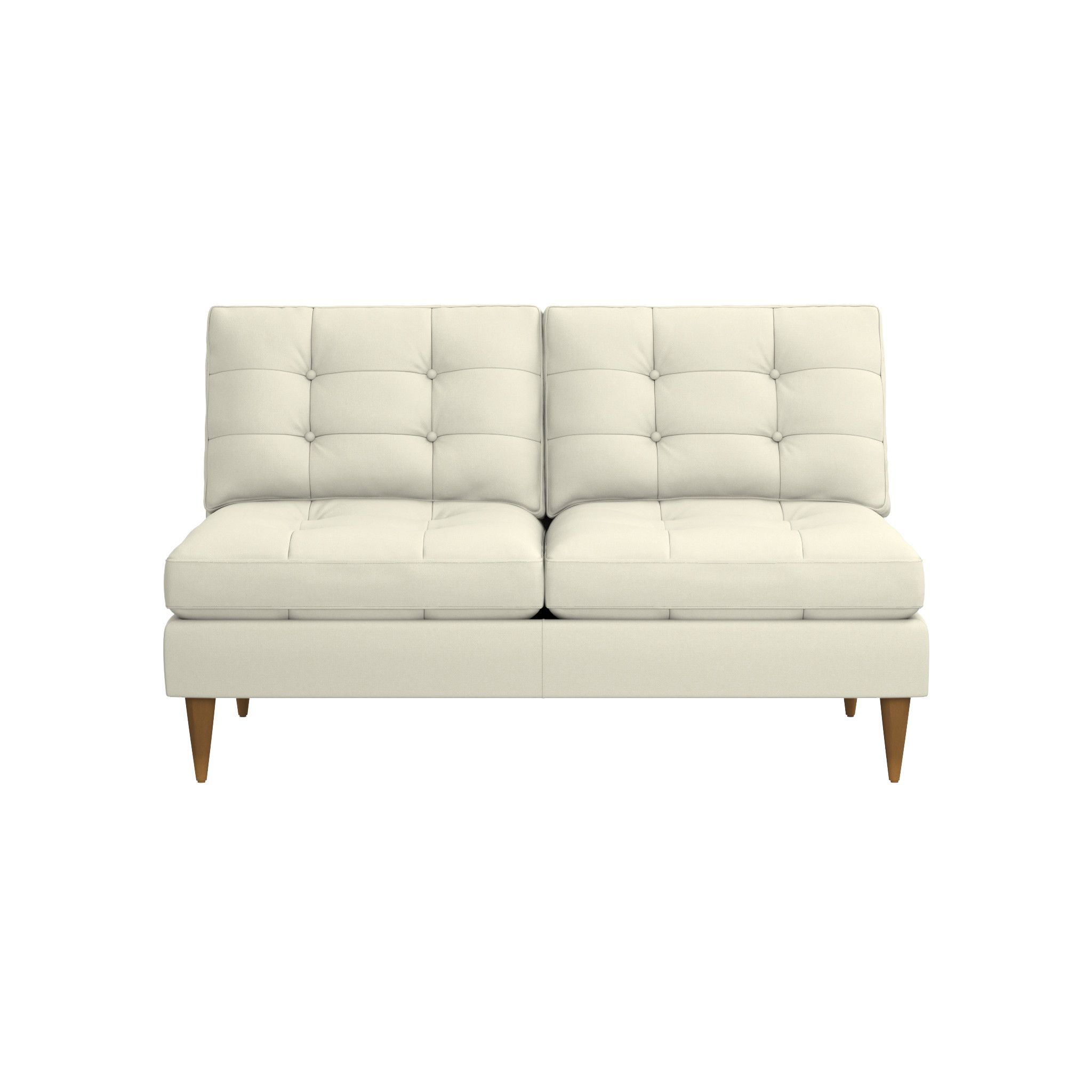 Petrie Midcentury Armless Loveseat Reviews Crate And Barrel